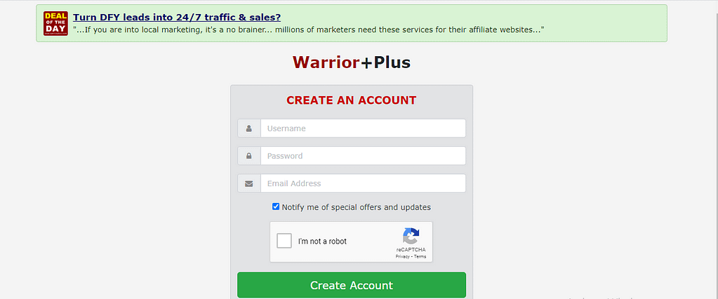 warrior plus for beginners signup process 2